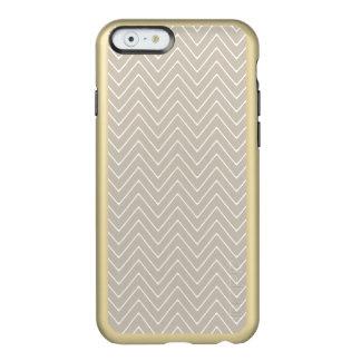 Beige White Chevron Pattern Incipio Feather® Shine iPhone 6 Case