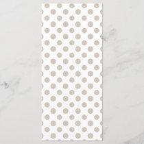 Beige White Polka Dots Pattern
