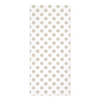 Beige White Polka Dots Pattern Rack Card