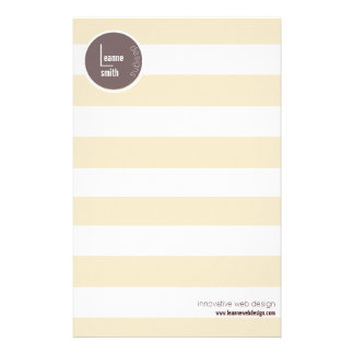 beige white stripes contemporary stationery