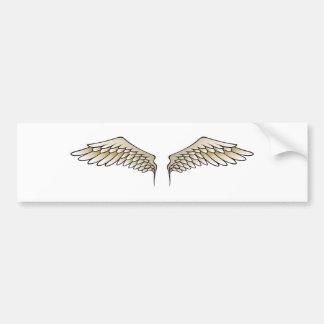Beige wings bumper sticker