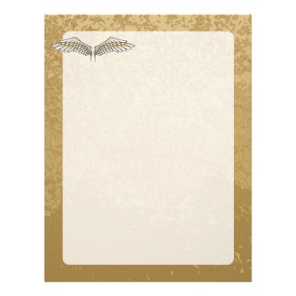 Beige wings letterhead