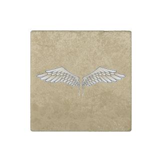 Beige wings stone magnet