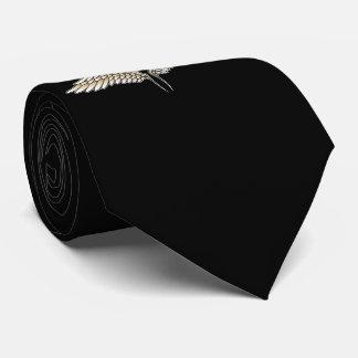 Beige wings tie