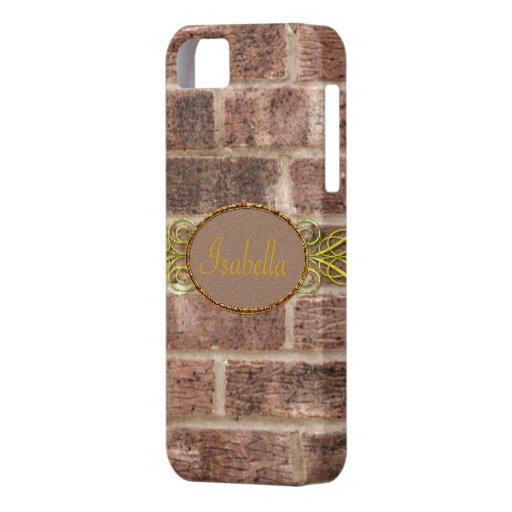 Beige y marrones conocidos de encargo lindos del L iPhone 5 Coberturas