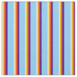 [ Thumbnail: Beige, Yellow, Red, Indigo & Light Sky Blue Lines Fabric ]