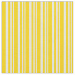 [ Thumbnail: Beige & Yellow Striped Pattern Fabric ]
