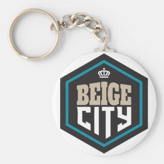BeigeCity.ai Basic Round Button Keychain