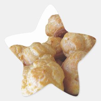 Beignets deliciosos pegatina en forma de estrella