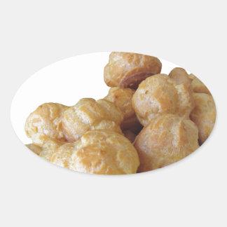Beignets deliciosos pegatina ovalada
