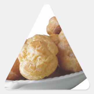 Beignets deliciosos pegatina triangular