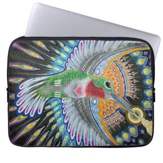 """Beija Flor (""""Flower Kisser"""") Hummingbird Painting Computer Sleeve"""