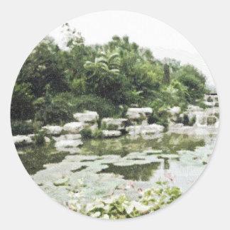 Beijing BotanicalGardens Drawing Classic Round Sticker