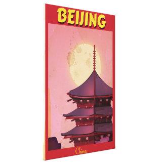 Beijing China vintage travel poster Canvas Print
