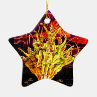 Beijing Circus Acrobats Ceramic Ornament