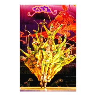 Beijing Circus Acrobats Personalized Stationery