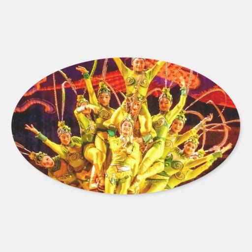Beijing Circus Acrobats Sticker