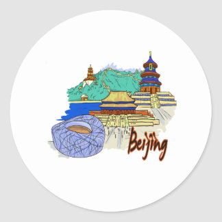 beijing city travel graphic.png classic round sticker