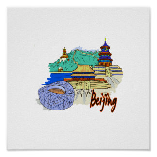 beijing city travel graphic.png poster