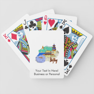 beijing city watercolour travel graphic.png bicycle playing cards