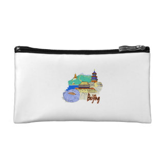 beijing city watercolour travel graphic.png cosmetic bag