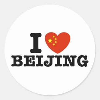 Beijing Classic Round Sticker