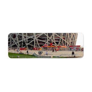Beijing National Olympic Stadium Label
