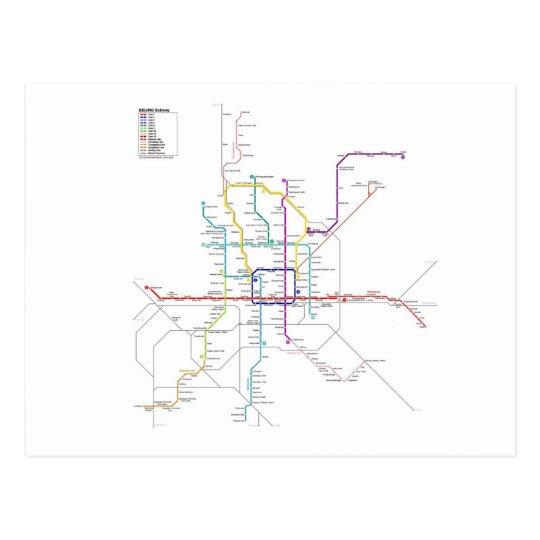 Beijing subway postcard