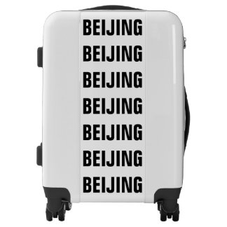 BEIJING, Typo black, Peking Luggage