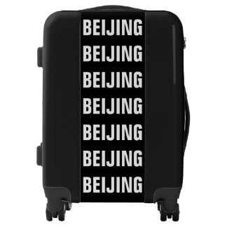 BEIJING, Typo white / black, Peking Luggage