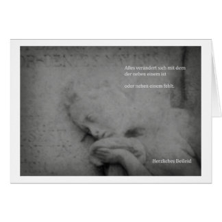 Beileidskarte weinende Frau Grußkarte