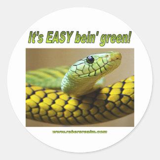 Bein' Green (Mamba) Classic Round Sticker