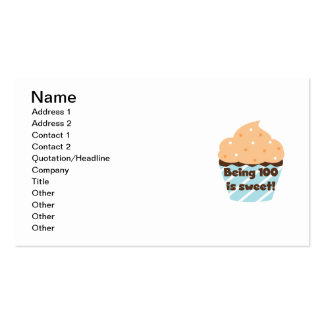 Being 100 is Sweet Birthday T-shirts and Gifts Business Card Templates