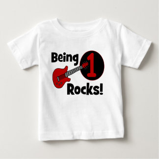 Being 1 Rocks! Personalized Baby's 1st Birthday Baby T-Shirt