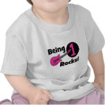 Being 1 Rocks! with Pink Guitar Shirt