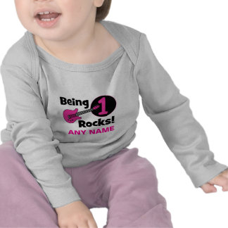 Being 1 Rocks! with Pink Guitar Tee Shirts