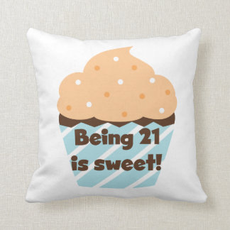 Being 21 is Sweet Birthday T-shirts and Gifts Throw Pillows