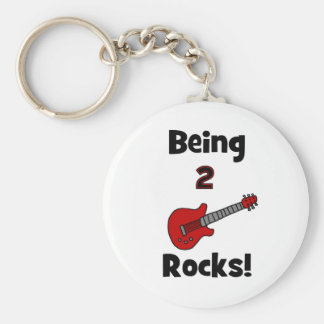 Being 2 Rocks!  with Guitar Keychain