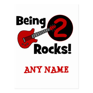 Being 2 Rocks! with Guitar Postcard
