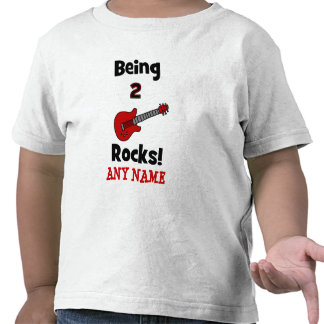 Being 2 Rocks!  with Guitar Tee Shirts