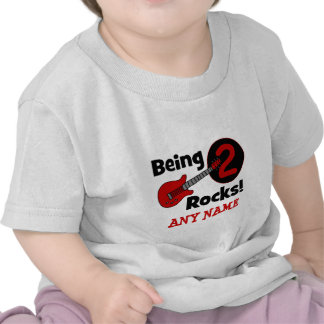 Being 2 Rocks! with Guitar T-shirt