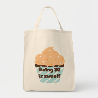 Being 30 is Sweet T-shirts and Gifts Canvas Bags