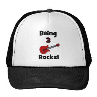 Being 3 Rocks! With Guitar Rockstar Rocker Hats