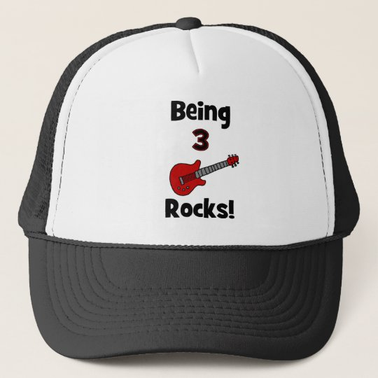Being 3 Rocks! With Guitar Rockstar Rocker Trucker Hat