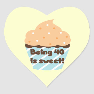 Being 40 is Sweet Birthday T-shirts and Gifts Heart Sticker