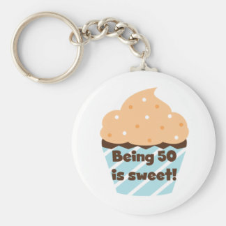 Being 50 is Sweet T-shirts and Gifts Keychain
