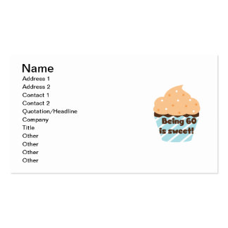 Being 60 is Sweet T-shirts and Gifts Double-Sided Standard Business Cards (Pack Of 100)