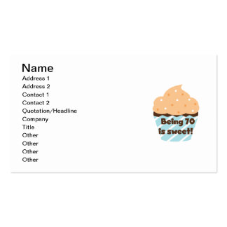 Being 70 is Sweet Birthday T-shirts and Gifts Double-Sided Standard Business Cards (Pack Of 100)