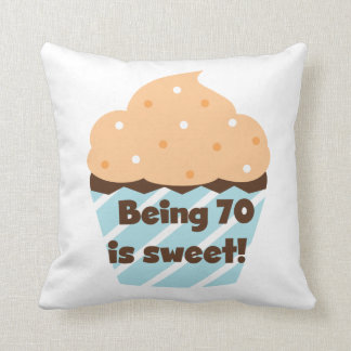 Being 70 is Sweet Birthday T-shirts and Gifts Pillow