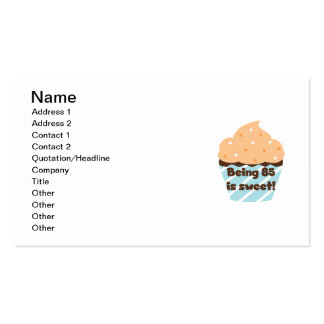Being 85 is Sweet Birthday T-shirts and Gifts Business Card Template